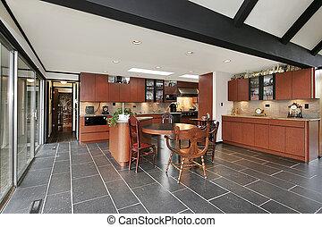 raggi, soffitto, cucina