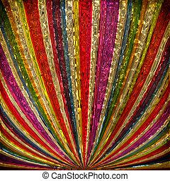 raggi sole, grudge, multicolor, fondo