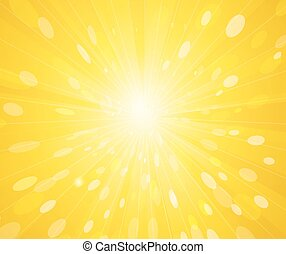 raggi, soleggiato, sfondo giallo