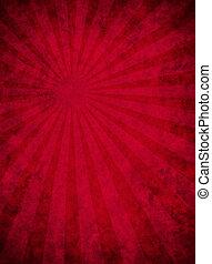 raggio leggero, carta, modello, grungy, rosso