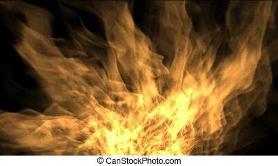 raging fire.