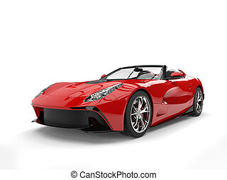 Raging red awesome sports car