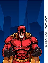 Raging Superhero City Background - Illustration of raging...