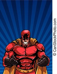 Raging Superhero Ray Light Background