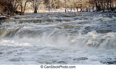 Raging Winter Rapids Loop - Loop features a stream, swollen...