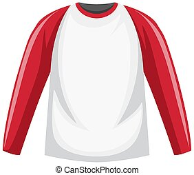 Raglan long sleeve t-shirt illustration