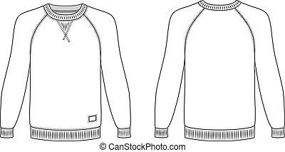 Raglan lt-shirt - Raglan long sleeve t-shirt outlined...