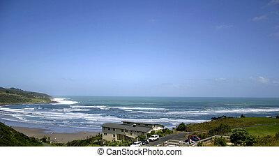 Raglan, New Zealand. Famous surf location