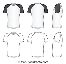 Outline black-white t-shirt vector illustration isolated on white. EPS8 file available. You can change the color or you can add your logo easily.