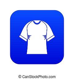 Raglan tshirt icon digital blue for any design isolated on white illustration