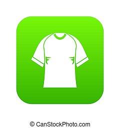 Raglan tshirt icon digital green for any design isolated on white illustration