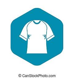 Raglan tshirt icon. Simple illustration of raglan tshirt icon for web