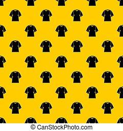 Raglan tshirt pattern seamless repeat geometric yellow for any design