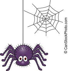 ragno, cartone animato