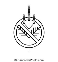 Ragweed prohibition minimalist linear logo sign
