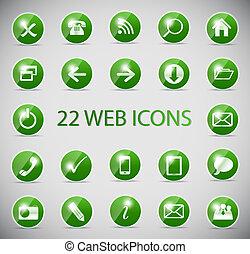 ragyog, computer ábra, vektor, sima, ikon