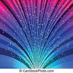 ragyog, stars., vektor, karácsony, háttér