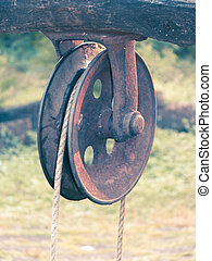 'Rahate', a pulley used for drawing water out of a well