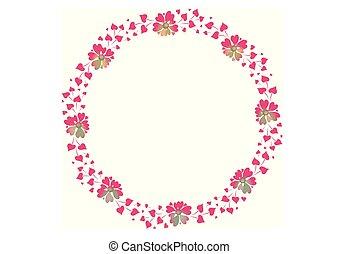 Rahmen, Blumen, Vektor - rahmen, blumen, vektor