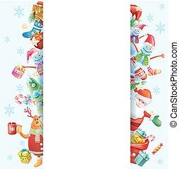 rahmen, für, weihnachtskarte