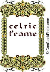 rahmen, in, keltischer stil, a, vektor