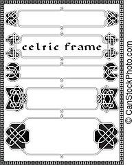 rahmen, in, keltischer stil