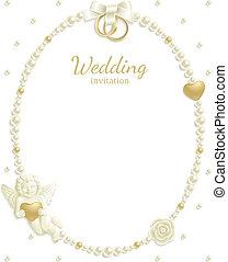 rahmen, juwel, wedding