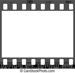 rahmen, negativ, film