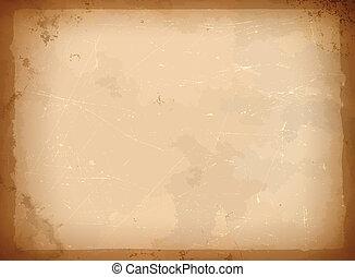 rahmen, papier, antikisiert