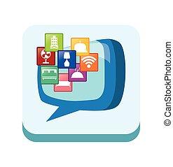 rahmen, und, hotel, und, digital, apps, design