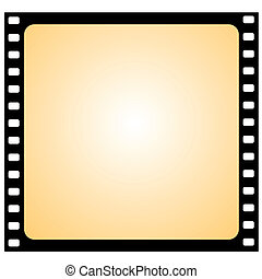 rahmen, vektor, -, film, vignette
