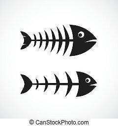 rahmen, vektor, fishbone, ikone