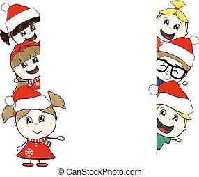 rahmen, weihnachten, kinder