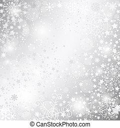 rahmen, weihnachten, silbrig