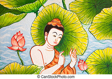 Rahul in the lotus field in Thai traditional style