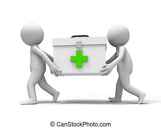Medicine cabinet - Raid,a people running with a Medicine...