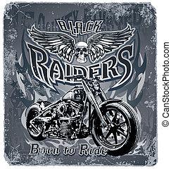 raiders, noir
