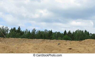 raiders, vélo, forêt, course, devant, pendant, enduro