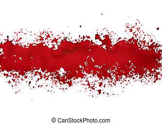 raie, peinture, rouges, renversé
