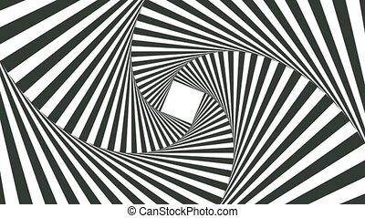 raies, blanc, hypnotique, noir, visualisation, image
