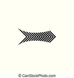 raies, flèche direction, droit, vecteur, géométrique