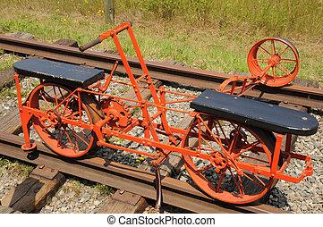 rail, 1880, charrette