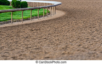 Rail At The Curve of Horse Track