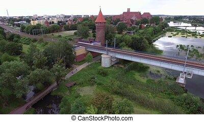 rail bridge over river - rail bridge over big river