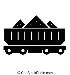 Rail car flat illustration on white