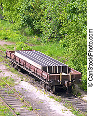 rail car with cargo in the dead end