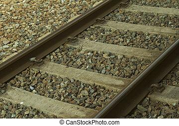 Rail - Close up of binary of a railway