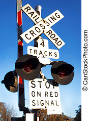Flashing lights of track and road signals