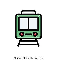 rail  flat color icon