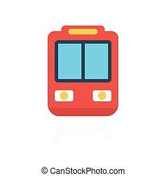 rail flat icon